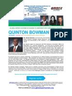 Caribbean & Latin American Conference on Talent Management 2013 BIO QUINTON BOWMAN