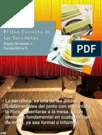 El Uso Correcto de Las Servilletas.
