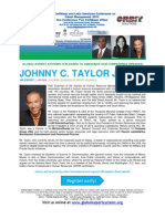 Caribbean & Latin American Conference on Talent Management 2013 BIO JOHNNY C. TAYLOR JR.