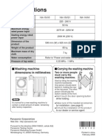 Manual Masina de Spalat Panasonic