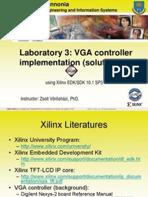 VGA controller implementation pdf   Digital Electronics