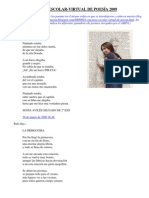 I Concurso Virtual Poesia 2009