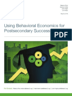 Using Behavioral Economics for Postsecondary Success