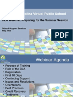 Spring 09 DLA Training for Summer Session - Davidson