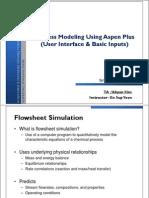 Seoul National University - Process Modeling Using Aspen Plus