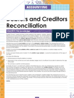 Debtors Reconcialation
