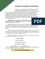 Modelul Matematic Si Modelarea Matematica