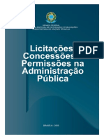 Licitacoes Concessoes Permissoes Adm Publica