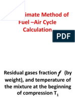 Approximate Method of Fuel-Air Cycle Calculation