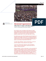 Commentary on Decisional Regeneration