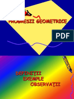 Progresii Geometrice