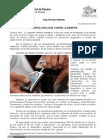 10/01/12 Germán Tenorio Vasconcelos intensifica Sso Lucha Contra La Diabetes