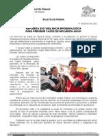 11/01/12 Germán Tenorio Vasconcelos Refuerza SSO vigilancia epidemiolólogica para prevenir casos de influenza AH_0