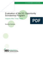 Evaluation of the DC Opportunity Scholarship Program Impacts After 3 Years - Executive Summary