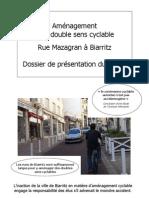 Dossier Technique Double Sens Cyclable Mazagran