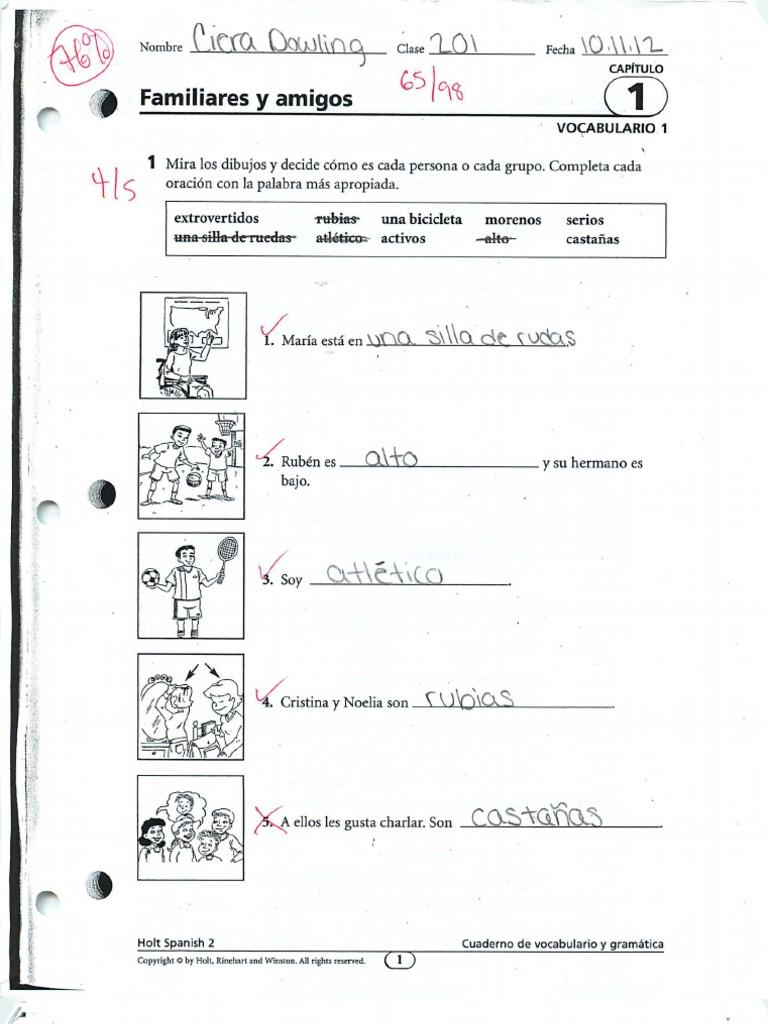 Familiares y amigos gramatica 2 answers / Recent Advances In ...