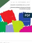 Programme du Congrès de la FIPF de Prague - 2011