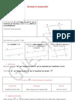Vecteurs Et Translation1 2