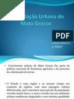 A População Urbana do Mato Grosso