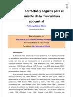 Ejercicios Correctos y Seguros Para El Fortalecimiento de La Musculatura Abdominal