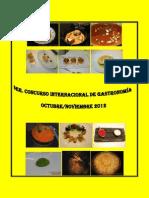 Recopilacion Recetas Concurso Internacional de Gastronomia