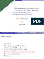 Optimización del Consumo de energía utilizando Eucalyptys en el entorno de Cloud Computing