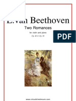 Beetoven-Two Romances- Op 40, Op 50 in Fa