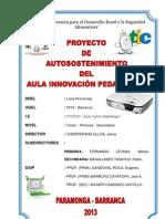 p r o y e c t o Autosostenimiento-2013