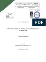PR-CON-0025  Implementacion Sistema de Gestion ISO 9001 - Laboratorios Muñoz V01