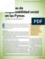 Prácticas de responsabilidad social en las Pymes