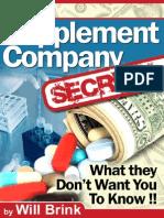Food Fitness Supplement Company Secrets
