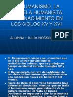 EL HUMANISMO - Julia Mosselli - Abril 22