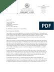 Letter from Council Member Margaret Chin to DOT Commissioner Janette Sadik-Khan re Citiike racks on Liberty Street