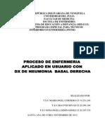 Caso Clinico Neumonia Basal.