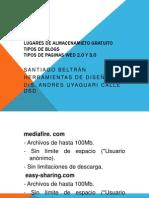 Lugares de Almacenamieto Gratuitoblogs,Web2.0y3.0