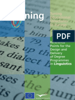 Reference Points for the Design and Delivery of Degree Programmes in Linguistics - Brochure