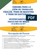 Cronograma TFM,TM y TD 2012-01