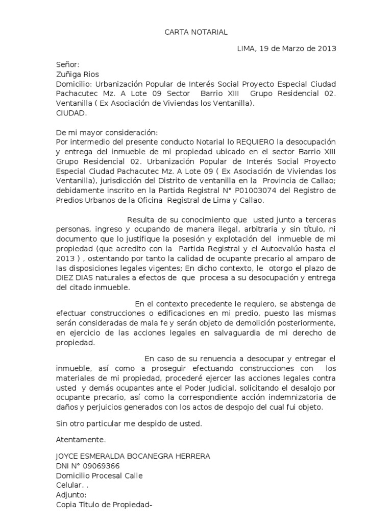 Contemporáneo Plantilla De Desalojo Modelo - Ejemplo De Colección De ...