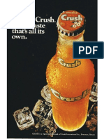 Crush Advertisement 1974