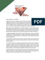 Nota de Prensa - Campaña por la Convención de los Derechos Sexuales y los Derechos Reproductivos