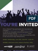 Avnu Alliance Infocomm 2013 Cocktail Party Invitation