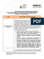 OBSERVACIONES FINALES SOBRE VIOLENCIA CONTRA LA MUJER, VIOLENCIA SEXUAL Y ABORTO EN EL SEGUNDO REPORTE PERIÓDICO DE BOLIVIA