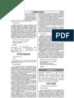 Modifican Anexo 1 del D.S. 047-2001-MTC - LMPs de emisiones contaminantes para vehículos automotores que circulen en la red vial