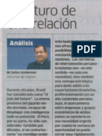 Artículo Presidente del CEPLAN Carlos Anderson publicado el 5.6.13 en La Republica