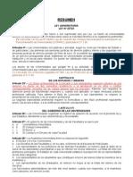 LEY UNIVERSITARIA resumen