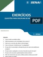 Exercícios Metrologia
