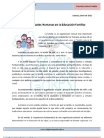 Art.N8 -Valores y Virtudes Humanas en La Educacin Familiar