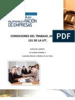 CONDICIONES DE TRABAJO ARTS.56 AL 131 LFT