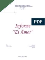 Informe El Amor