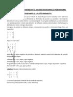 Cc3a1lculo de Determinantes Por El Mc3a9todo de Desarrollo Por Menores